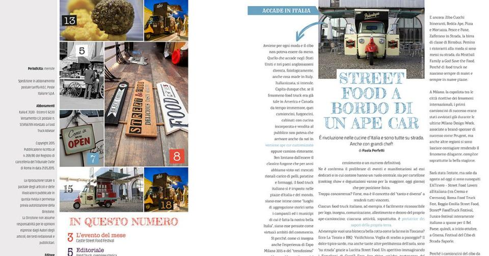 Food Truck Advisor Magazine - Immagine: 2